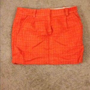 Orange tweed jcrew mini skirt